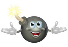 Bomb character. An illustration of a cute happy bomb cartoon character Royalty Free Stock Photography