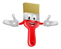 Paint brush mascot. An illustration of a cute happy red  cartoon paint brush character mascot Royalty Free Stock Image
