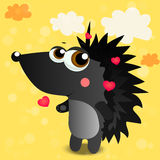 Illustration of cute hedgehog stock illustration
