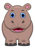 Cute Hippo cartoon royalty free illustration