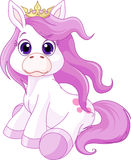 Cute horse princess. Illustration of cute horse princess Royalty Free Stock Photos