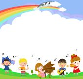 Kids and music Stock Images