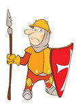 Illustration of a Cute Knight . Cartoon Character Stock Images