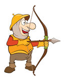 Illustration of a Cute Knight . Cartoon Character Stock Photography