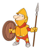 Illustration of a Cute Knight. Cartoon Character Stock Photo