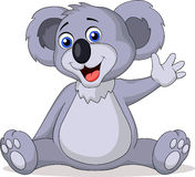 Cute koala cartoon waving hand Royalty Free Stock Photos