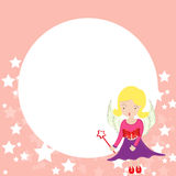 Illustration of Cute little baby fairy in fly Royalty Free Stock Image
