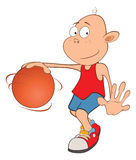 Illustration of Cute Little Boy. Basketball player Stock Images
