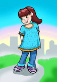 Illustration of cute little girl Royalty Free Stock Photo