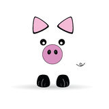 Illustration of cute little pig vector Stock Photography