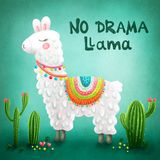 Cute llama stock illustration