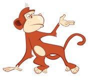 Illustration of a Cute Monkey. Mandrill. Cartoon Character Royalty Free Stock Photo