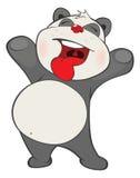 Illustration of a Cute Panda. . Cartoon Character Royalty Free Stock Photo