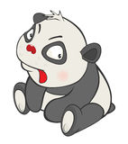 Illustration of a Cute Panda. Cartoon Character Royalty Free Stock Images