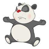 Illustration of a Cute Panda. Cartoon Character Stock Images