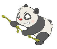 Illustration of a Cute Panda. Cartoon Character Royalty Free Stock Photo