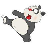 Illustration of a Cute Panda. Cartoon Character Stock Photo