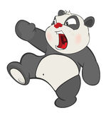 Illustration of a Cute Panda. Cartoon Character Stock Photos