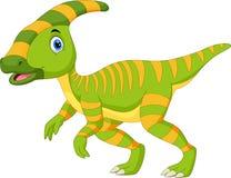 Cute Parasaurolophus dinosaur cartoon vector illustration