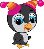 Illustration of cute penguin in two hats Stock Image