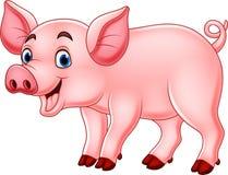 Cute pig cartoon royalty free illustration