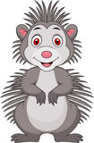 Cute porcupine cartoon. Illustration of cute porcupine cartoon Royalty Free Stock Image