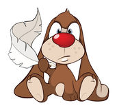 Illustration of a Cute Rabbit. Cartoon Character Stock Photo
