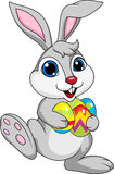 Cute rabbit with ester egg Stock Images