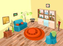 Room. Vector illustration of a cute room Royalty Free Stock Photos