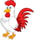 Cute rooster cartoon posing royalty free illustration