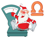 Illustration of a Cute Santa Claus. Astrological Sign in the Zodiac Cartoon Character Royalty Free Stock Photo