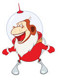 Illustration of a Cute Santa Claus.A Monkey Astronaut. Year of the Monkey. Cartoon Character Royalty Free Stock Photos