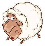 Illustration of a Cute Sheep. Cartoon Character Stock Image