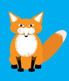 Illustration of cute sitting red Fox. Vector illustration Royalty Free Stock Images