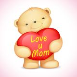 Teddy Bear holding Heart Royalty Free Stock Image