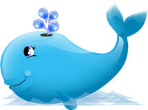 Illustration of a cute whale Royalty Free Stock Photo