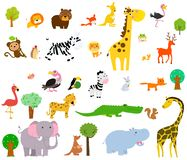 Cute wild animals .African safari. vector illustration. Illustration of Cute wild animals .African safari. vector illustration royalty free illustration
