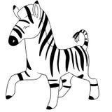 Illustration of a cute zebra Stock Photography