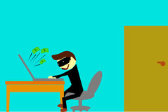 Illustration for cyber crime Stock Photo
