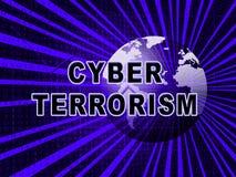 Illustration cyber-Terrorismus-on-line-Terrorist-Crime 3d Vektor Abbildung
