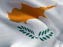 Cyprus flag on a fabric basis. Illustration of a Cyprus flag on a fabric basis Stock Images