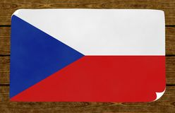 Illustration of a Czech flag royalty free stock photography