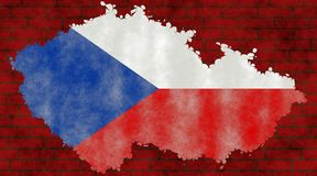 Illustration of a Czech flag royalty free stock photo