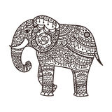Illustration décorative d'éléphant illustration libre de droits
