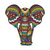 Illustration décorative d'éléphant Photographie stock