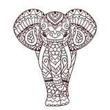 Illustration décorative d'éléphant Photos stock