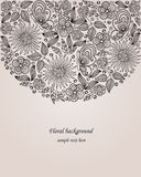 Illustration décorative de fleur Photos libres de droits