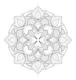 Illustration décorative de mandala Photographie stock libre de droits