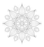 Illustration décorative de mandala Photographie stock