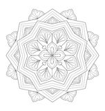 Illustration décorative de mandala Photos stock